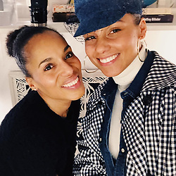 """Alicia Keys releases a photo on Instagram with the following caption: """"Just saw @americansonplay with the magnificent @kerrywashington\nWooooowwww! I\u2019m smiling now but watching it is a roller coaster of emotions!! So powerful! What a reflection of us all! If you haven\u2019t seen it one week left \ud83d\udd25\ud83d\udd25\ud83d\udd25"""". Photo Credit: Instagram *** No USA Distribution *** For Editorial Use Only *** Not to be Published in Books or Photo Books ***  Please note: Fees charged by the agency are for the agency's services only, and do not, nor are they intended to, convey to the user any ownership of Copyright or License in the material. The agency does not claim any ownership including but not limited to Copyright or License in the attached material. By publishing this material you expressly agree to indemnify and to hold the agency and its directors, shareholders and employees harmless from any loss, claims, damages, demands, expenses (including legal fees), or any causes of action or allegation against the agency arising out of or connected in any way with publication of the material."""