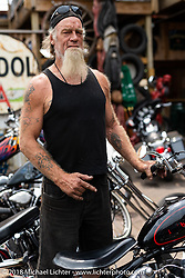 Bret Hatt in the Cycle Source show at the Iron Horse Saloon during the 78th annual Sturgis Motorcycle Rally. Sturgis, SD. USA. Sunday August 5, 2018. Photography ©2018 Michael Lichter.