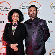 Cary Sawhney and Dr Alka Bagri of Bagri Foundation Tittle Sponsor arrives at London Indian Film Festival world premiere of Anubhav Sinha's 'Article 15' at Picturehouse Central, on 20 June 2019, London , UK.