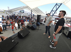 September 14, 2018 - Las Vegas, NV, U.S. - LAS VEGAS, NV - SEPTEMBER 14: NASCAR Monster Energy Cup Series driver Austin Dillon (3) Richard Childress Racing (RCR) Chevrolet Camaro ZL1 speaks with race fans in the Neon Garage on September 14, 2018, at Las Vegas Motor Speedway in Las Vegas, NV. (Photo by Will Lester/Icon Sportswire) (Credit Image: © Will Lester/Icon SMI via ZUMA Press)
