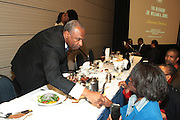 April 17, 2012 Washington, D.C: Rev. Dr. H. Floyd Flakes, Senior Pastor, Greater Allen A.M.E Catherderal & President Wilberforce University attends Rev. Al Sharpton's  2012 National Action Network Convention held at the Walter E. Washington Convention Center from April 11-14, 2012 in Washington, D.C . .National Action Network (NAN) is one of the leading civil rights organizations in America and is at the forefront of the social justice movement, confronting issues such as police misconduct and abuse, voter rights, education, workers' right, healthcare awareness, anti-violence and more. Founded in New York City in 1991 by Rev. Al Sharpton and a group of activists, NAN is committed to the principles of nonviolent activism and civil disobedience as a direct outgrowth of the movement that was lead by the Rev. Dr. Martin Luther King, Jr. .(Photo by Terrence Jennings).