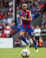 Andros Townsend of Crystal Palace in action. <br /> Premier League match, Crystal Palace v Swansea city at Selhurst Park in London on Saturday 26th August 2017.<br /> pic by Kieran Clarke, Andrew Orchard sports photography.