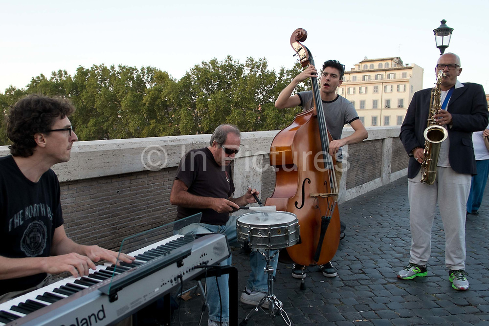 Buskers in the street, Rome, Italy.