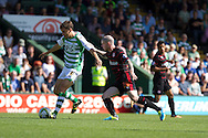 Ed Upson (left) of Yeovil Town and Royston Drenthe of Reading during the Skybet championship match, Yeovil Town v Reading at Huish Park in Yeovil on Saturday 31st August 2013. <br /> Picture by Sophie Elbourn, Andrew Orchard sports photography,