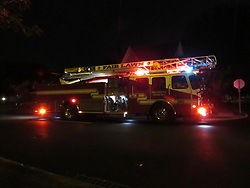 August 17, 2017 - Fair Lawn, New Jersey, United States - Fair Lawn Fire Department responds to report of smoke in a home on 12th Street in Fair Lawn, NJ on August 17, 2017. (Credit Image: © Kyle Mazza/NurPhoto via ZUMA Press)