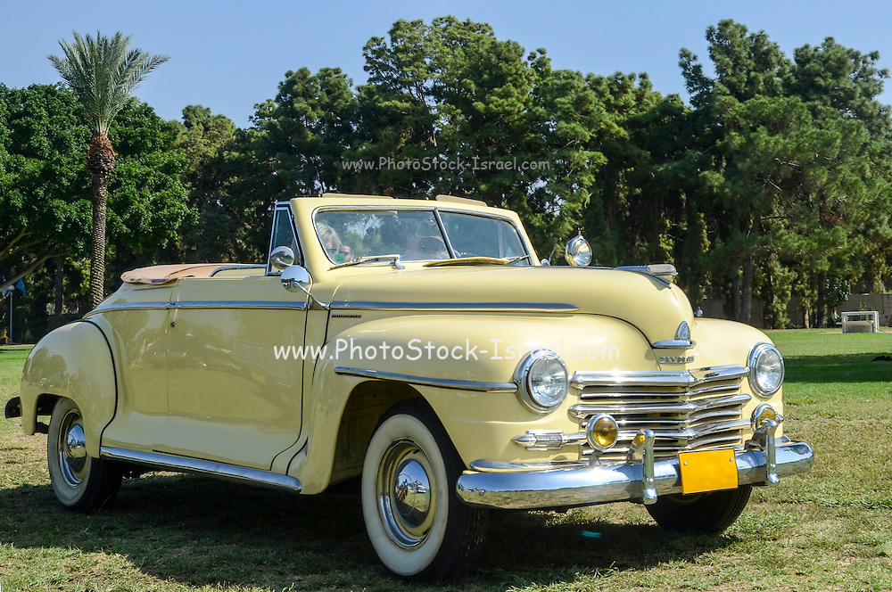 classic 40's Plymouth convertible