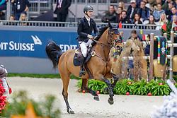 DEVOS Pieter (BEL), Claire Z<br /> Genf - CHI Geneve Rolex Grand Slam 2019<br /> Prix des Vins de Genève<br /> Internationales Springen Fehler/Zeit<br /> International Jumping Competition 1m45<br /> Table A: Against the Clock<br /> 12. Dezember 2019<br /> © www.sportfotos-lafrentz.de/Stefan Lafrentz