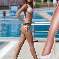 Szonja Dudik participates the Miss Bikini Hungary beauty contest held in Budapest, Hungary on August 29, 2010. ATTILA VOLGYI