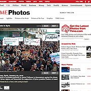 "Screengrab of ""Protests in Syrian"" published in TIME.com"