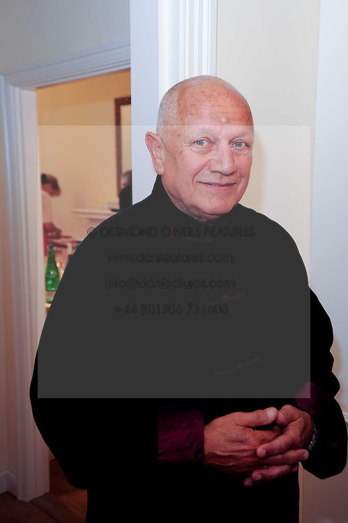 Actor STEVEN BERKOFF at a reception to celebrate the repairs on the Queen Elizabeth Gate in Hyde Park after it's successful repair following damaged sustained in a traffic accident in early 2010.  The party was held at 35 Sloane Gardens, London on 7th June 2010.