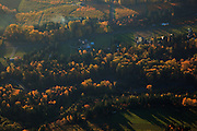 USA, Oregon,  aerial landscape of the Hood River Valley.