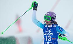 29.12.2014, Hohe Mut, Kühtai, AUT, FIS Ski Weltcup, Kühtai, Slalom, Damen, 2. Durchgang, im Bild Sarka Strachova (CZE) // Sarka Strachova of Czech Republic reacts after 2nd run of Ladies Giant Slalom of the Kuehtai FIS Ski Alpine World Cup at the Hohe Mut Course in Kuehtai, Austria on 2014/12/29. EXPA Pictures © 2014, PhotoCredit: EXPA/ JFK