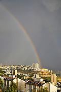 Rainbow over Haifa, Israel