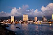 Kewalo Basin at twilight, Ala Moana, Honolulu, Oahu, Hawaii