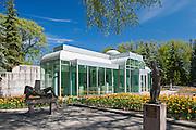 Leo Mol Gallery in Leo Mol Sculpture Garden in Assiniboine Park<br /> Winnipeg<br /> Manitoba<br /> Canada