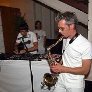 Modeshow Wolford Amsterdam, saxofonist