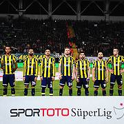 Fenerbahce's players during their Turkish Super League soccer match Akhisar Belediye Genclik Spor between Fenerbahce at the 19 Mayis Stadium in Manisa Turkey on Sunday, 06 March 2016. Photo by TURKPIX