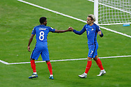 Antoine GRIEZMANN (FRA) scored a goal against Jasper CILLESSEN and celebrated it with Thomas LEMAR (FRA) during the FIFA World Cup Russia 2018, Qualifying Group A football match between France and Netherlands on August 31, 2017 at Stade de France in Saint-Denis, France - Photo Stephane Allaman / ProSportsImages / DPPI