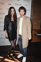 DAN MACMILLAN and SASHA VOLKOVA at a party to celebrate the 10th anniversary of the Myla lingerie brand held at Almada, 17 Berkeley Street, London on 17th November 2010.