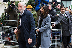 London, UK. 16 November, 2019. Jeremy Corbyn, Leader of the Labour Party, arrives for the Clause V meeting. The Clause V meeting, chaired by the party leader and attended by members of the National Executive Committee (NEC), relevant Shadow Cabinet members and members of the National Policy Forum, will finalise the party's general election manifesto. The meeting is named after Clause V of the Labour Party rulebook.