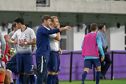 July 31, 2018 - Minneapolis, Minnesota, U.S - Tottenham manager MAURICIO POCHETTINO gives last minute instructions to CHRISTIAN ERIKSEN during the second half. (Credit Image: © Keith R. Crowley via ZUMA Wire)