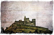 Rock of Cashel, Tipperary, Ireland - Forgotten Postcard digital art European Travel collage