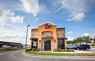Taco Bell fast food restaurant in Chalmette Louisiana, one of many franchises to reopen in an area that was devastated by hurricane Katrina.