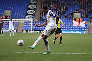 Tranmere Rovers' Jean-Louis Akpa Akpro shoots wide. Skybet football league 1 match, Tranmere Rovers v Carlisle United at Prenton Park in Birkenhead, England on Saturday 29th March 2014.<br /> pic by Chris Stading, Andrew Orchard sports photography.