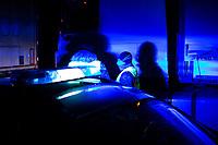 Budzisko, woj podlaskie, 15.03.2020. Po polnocy (15.03) zostala przywrocona kontrola graniczna na wewnetrznej granicy UE na dawnym przejsciu granicznym z Litwa N/z kontrola pojazdow  *** Poland has closed the borders for all foreigners since 15.03.2020 because of the Corona crisis. On photo: Polish - Lithuanian border in Budzisko *** fot Michal Kosc / AGENCJA WSCHOD