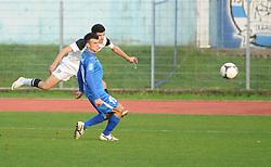 Nusmir Fajic #17 of Mura 05 vs Miha Gregoric #19 of Gorica during football match between ND Gorica and ND Mura 05 in 20th Round of PrvaLiga NZS 2012/13 on November 24, 2012 in Nova Gorica, Slovenia. (Photo By Ales Cipot / Sportida)
