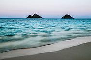 Mokulua Islands, Lanikai, Kailua Bay, Oahu, Hawaii