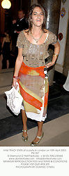 Artist TRACY EMIN at a party in London on 15th April 2003. PIX 357