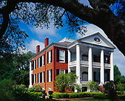 """Rosalie, built in 1820 to 23 in the Federal Style for Peter and Eliza Little and then sold in 1857 to th Andrew Wilson family who lived here for 101 years, Natchez, Mississippi.  Please Note:  Any publication of this image requires the following to appear in the captioning or credit: """"Rosalie is owned, operated, and maintained by the Mississippi State Society of the American Revolution."""""""