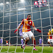 Galatasaray's Burak Yilmaz scores during their Turkish Superleague soccer match Galatasaray between Orduspor at the AliSamiyen Spor Kompleksi TT arena in Istanbul Turkey on Monday 25 February 2013. Photo by Aykut AKICI/TURKPIX