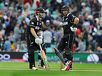 Cricket - 2019 ICC Cricket World Cup - Group Stage: Bangladesh vs. New Zealand<br /> <br /> Ross Taylor (right) and Kane Williamson of NZ wait for the decision on the stumping of Williamson, at Kia Oval.<br /> <br /> COLORSPORT/ANDREW COWIE