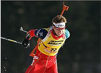 Skiskyting, 11. desmeber 2003, Ole Einar Bjørndalen, Norge Biathlon Norwegen<br /> Weltcup Hochfilzen 10 km Sprint