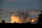 Carmopolis de Minas_MG, Brasil...Torre eletrica em uma paisagem...Electric tower in the landscape...Foto: LEO DRUMOND / NITRO