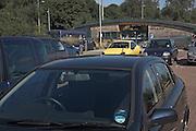Cars parked at Martlesham Park and Ride, Martlesham, Ipswich, Suffolk, England