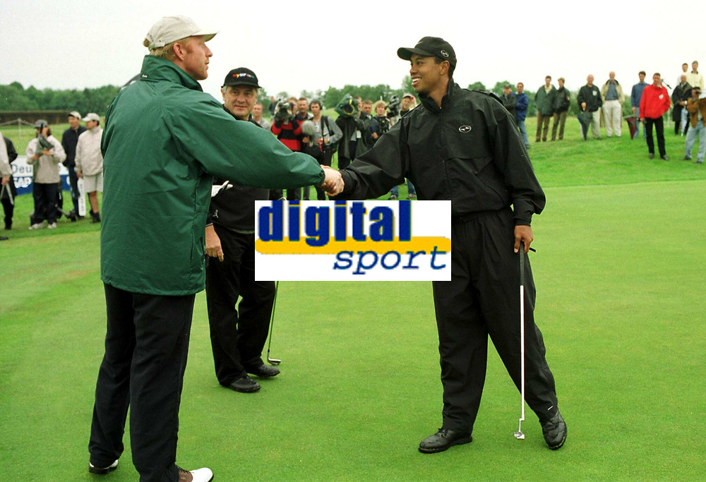 Boris BECKER , Tiger WOODS<br />                                                       Golf