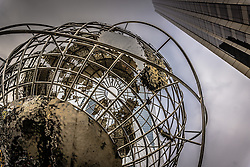 The Time Warner Building and Trump Building at Columbus Circle and the Globe, New York City