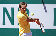 Daniil Medvedev of Russia during practice ahead of the French Open 2021, a Grand Slam tennis tournament at Roland-Garros stadium on May 29, 2021 in Paris, France - Photo Jean Catuffe / ProSportsImages / DPPI