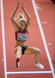 Darya Klishina of Russia competes in the Long Jump Women Qualification on day two of the 2017 European Athletics Indoor Championships at the Kombank Arena on March 4, 2017 in Belgrade, Serbia. Photo by Vid Ponikvar / Sportida