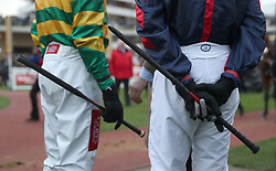 Jockeys whips during St Patrick's Thursday of the 2017 Cheltenham Festival at Cheltenham Racecourse. PRESS ASSOCIATION Photo. Picture date: Thursday March 16, 2017. See PA story RACING Cheltenham. Photo credit should read: David Davies/PA Wire. RESTRICTIONS: Editorial Use only, commercial use is subject to prior permission from The Jockey Club/Cheltenham Racecourse.