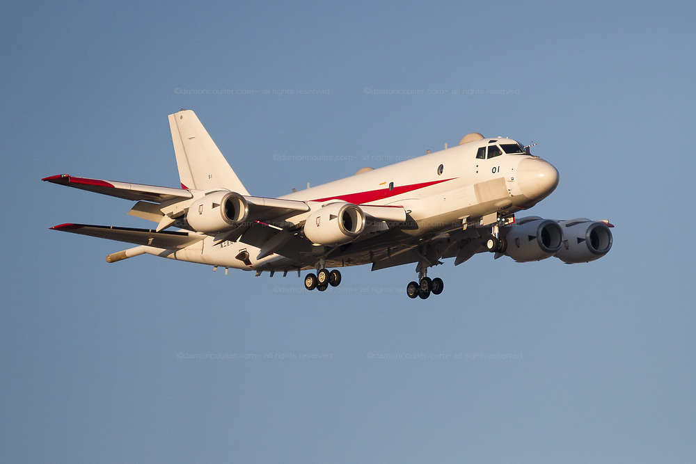 A Kawasaki  UP-1 (formally XP-1) with the Air Development Squadron 5 of the Japanese maritime Self Defence Force (JMSDF) flying near Naval Air Facility, Atsugi, Yamato, Kanagawa, Japan. Thursday February 13th 2020