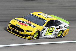 March 1, 2019 - Las Vegas, NV, U.S. - LAS VEGAS, NV - MARCH 01: Ryan Blaney (12) Team Penske Ford Mustang GT drives through turn four during practice for the Monster Energy NASCAR Cup Series 22nd Annual Pennzoil 400 on March 1, 2019, at the Las Vegas Motor Speedway in Las Vegas, Nevada. (Photo by Michael Allio/Icon Sportswire) (Credit Image: © Michael Allio/Icon SMI via ZUMA Press)