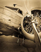 Fully restored Lockheed 12A Electra Junior, photographed with an 8 x 10 view camera.