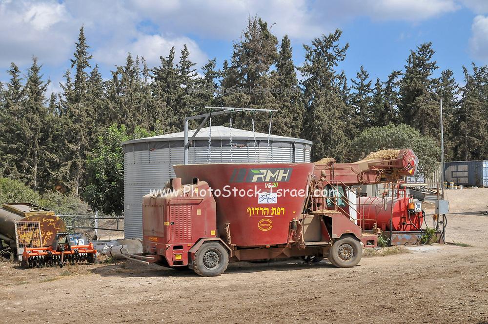Dairy farm. Photographed in Kibbutz Harduf, Israel