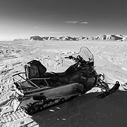 On the frozen sea ice of Van Mijenfjorden