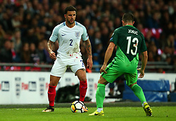 Kyle Walker of England takes on Bojan Jokic of Slovenia - Mandatory by-line: Robbie Stephenson/JMP - 05/10/2017 - FOOTBALL - Wembley Stadium - London, United Kingdom - England v Slovenia - World Cup qualifier