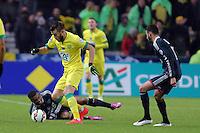 Lucas DEAUX / Alexandre LACAZETTE  - 20.01.2015 - Nantes / Lyon  - Coupe de France 2014/2015<br />Photo : Vincent Michel / Icon Sport